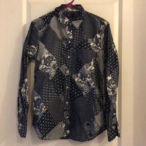 Gap boyfriend shirt bandana patchwork. Medium.